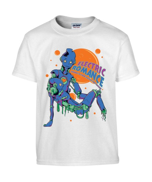 T-shirt Homme Robots [Science-Fiction, Electric Romance, Amour] T-shirt Manches Courtes, Col Rond