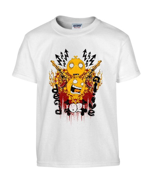 T-shirt Homme Smiley Trash [Revolver, Swag] T-shirt Manches Courtes, Col Rond