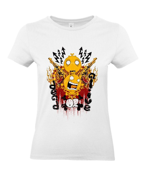 T-shirt Femme Smiley Trash [Revolver, Swag] T-shirt Manches Courtes, Col Rond