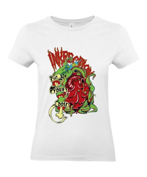 T-shirt Femme Trash Coeur [Horreur, Gore, Infection] T-shirt Manches Courtes, Col Rond