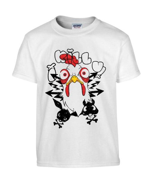 T-shirt Homme I Kill You [Trash, Fun, Drôle, Humour Noir] T-shirt Manches Courtes, Col Rond