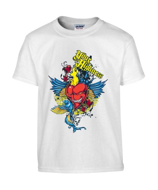 T-shirt Homme Coeur Trash [Ange, Démon] T-shirt Manches Courtes, Col Rond