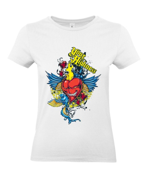 T-shirt Femme Cœur Trash [Ange, Démon] T-shirt Manches Courtes, Col Rond