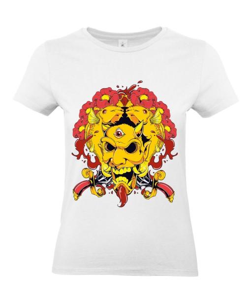T-shirt Femme Trash Démon [Horreur, Gore] T-shirt Manches Courtes, Col Rond