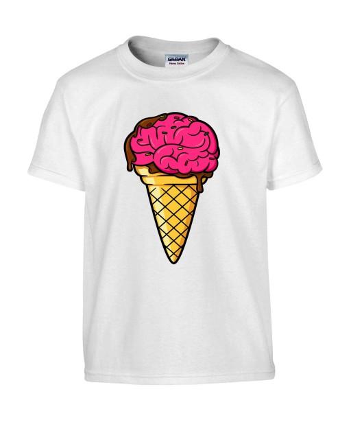 T-shirt Homme Trash Glace Cerveau [Humour Noir, Swag, Fun, Drôle] T-shirt Manches Courtes, Col Rond