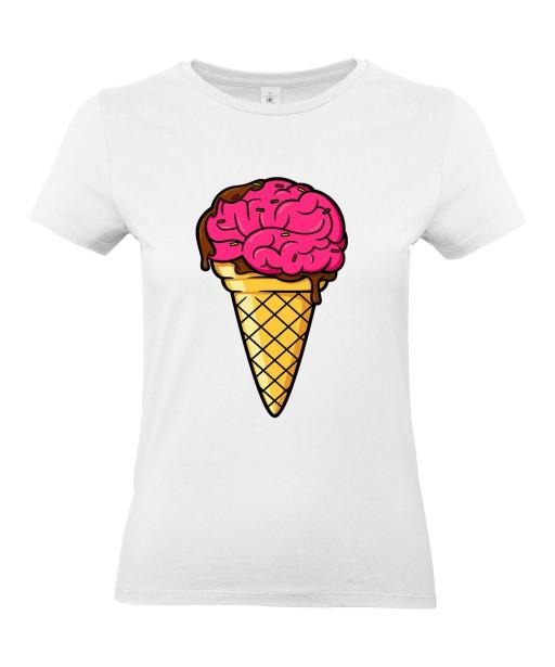 T-shirt Femme Trash Glace Cerveau [Humour Noir, Swag, Fun, Drôle] T-shirt Manches Courtes, Col Rond