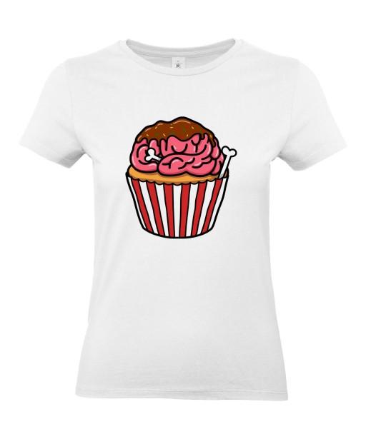 T-shirt Femme Trash Cupcake [Humour Noir, Cerveau, Muffin, Swag, Fun, Drôle] T-shirt Manches Courtes, Col Rond