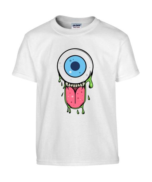 T-shirt Homme Trash Oeil [Humour Noir, Swag, Fun, Drôle] T-shirt Manches Courtes, Col Rond