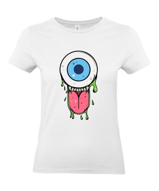 T-shirt Femme Trash Oeil [Humour Noir, Swag, Fun, Drôle] T-shirt Manches Courtes, Col Rond