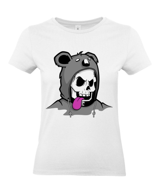 T-shirt Femme Trash Tête de Mort Koala [Humour Noir, Skull, Swag, Fun, Drôle] T-shirt Manches Courtes, Col Rond