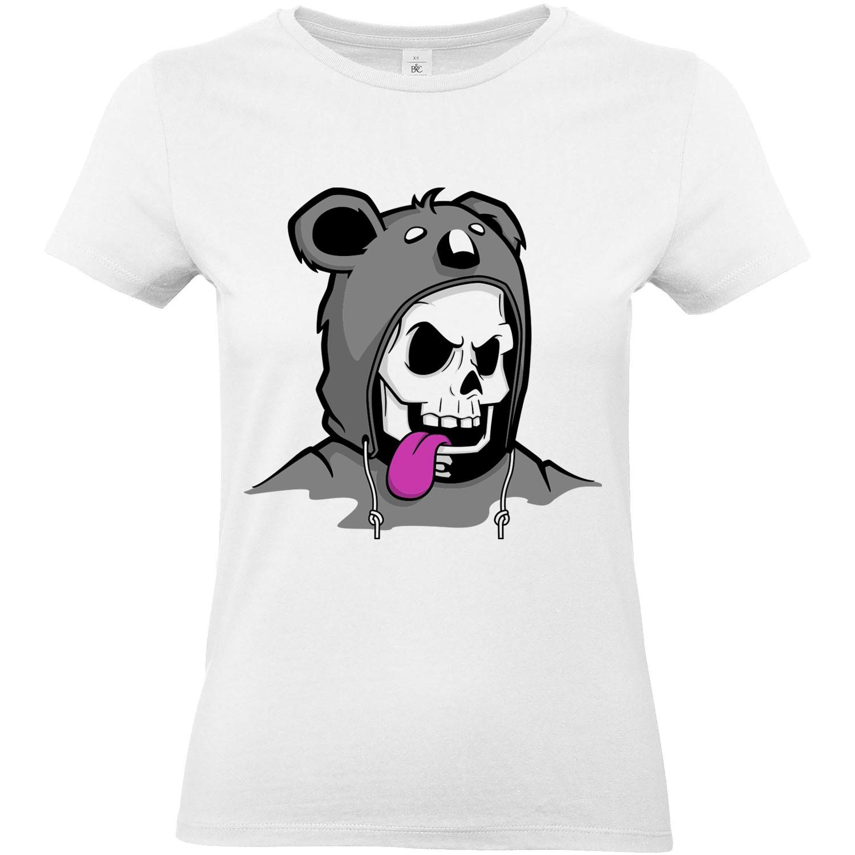 T Shirt Femme Trash Tête De Mort Koala