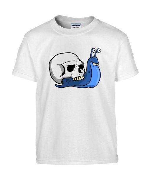 T-shirt Homme Trash Tête de Mort Escargot [Humour Noir, Skull, Swag, Fun, Drôle] T-shirt Manches Courtes, Col Rond