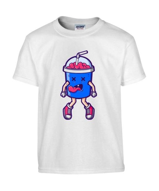 T-shirt Homme Trash Milkshake [Humour Noir, Cerveau, Swag, Fun, Drôle] T-shirt Manches Courtes, Col Rond