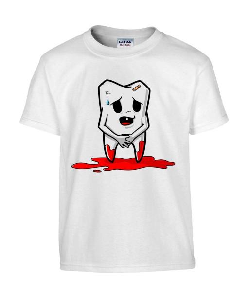 T-shirt Homme Trash Dent [Humour Noir, Sang, Swag, Fun, Drôle] T-shirt Manches Courtes, Col Rond