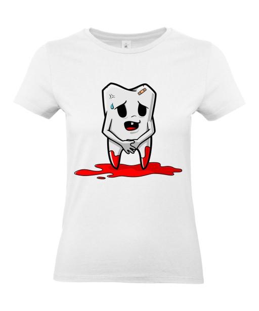 T-shirt Femme Trash Dent [Humour Noir, Sang, Swag, Fun, Drôle] T-shirt Manches Courtes, Col Rond