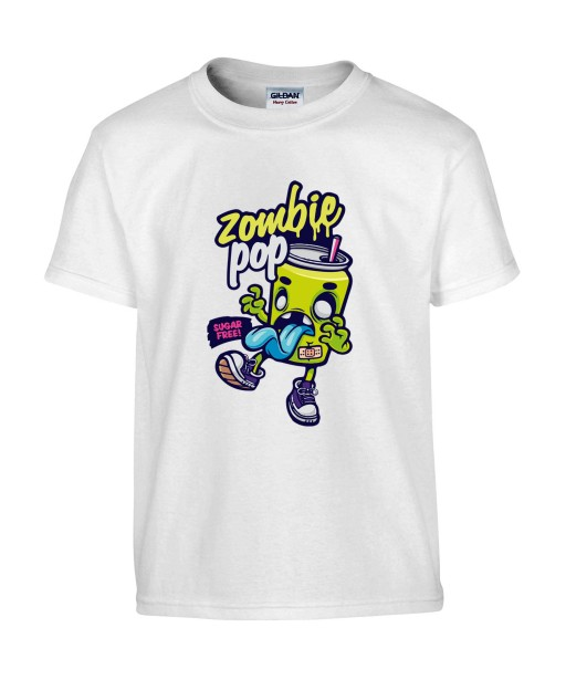 T-shirt Homme Zombie Pop [Humour Noir, Trash, Swag, Fun, Drôle] T-shirt Manches Courtes, Col Rond