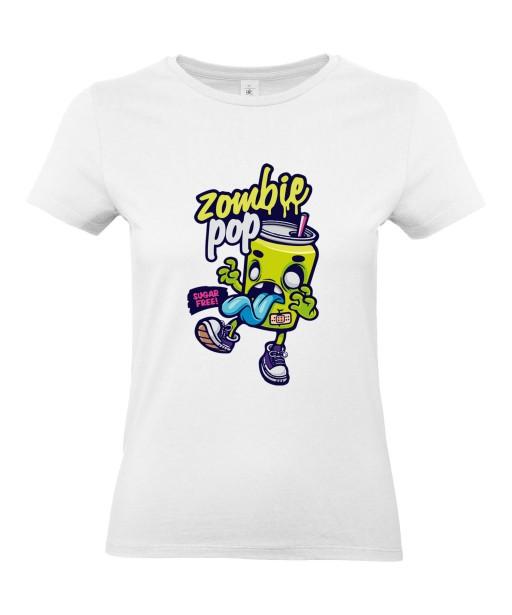 T-shirt Femme Zombie Pop [Humour Noir, Trash, Swag, Fun, Drôle] T-shirt Manches Courtes, Col Rond