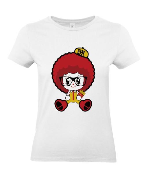 T-shirt Femme Ronald McDonald's [Humour Noir, Cute, Mignon, Parodie, Fun, Drôle] T-shirt Manches Courtes, Col Rond