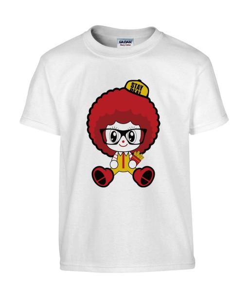 T-shirt Homme Ronald McDonald's [Humour Noir, Cute, Mignon, Parodie, Fun, Drôle] T-shirt Manches Courtes, Col Rond