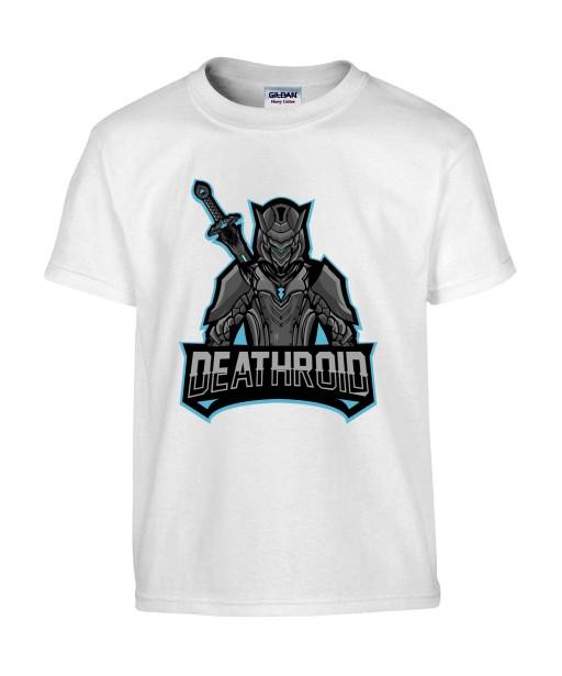 T-shirt Homme Geek Deathroid [Jeux Vidéos, Gamer] T-shirt Manches Courtes, Col Rond