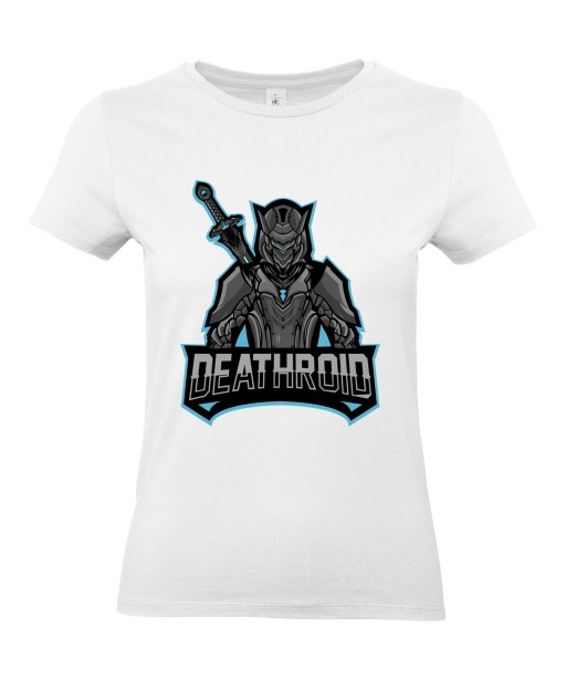 T-shirt Femme Geek Deathroid [Jeux Vidéos, Gamer] T-shirt Manches Courtes, Col Rond