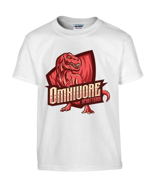 T-shirt Homme Geek Omnivore [Animaux, Team, Jeux Vidéos, Gamer, Dinosaure] T-shirt Manches Courtes, Col Rond