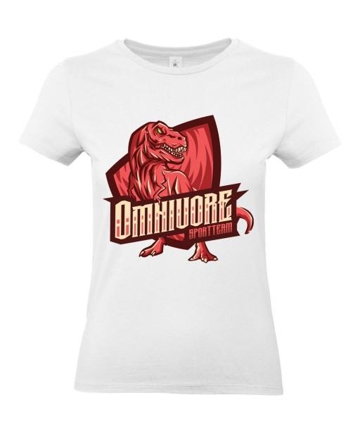 T-shirt Femme Geek Omnivore [Animaux, Team, Jeux Vidéos, Gamer, Dinosaure] T-shirt Manches Courtes, Col Rond