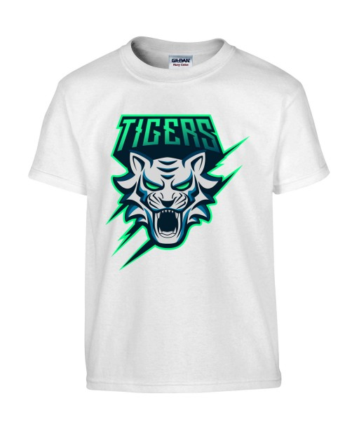 T-shirt Homme Geek Tigers [Animaux, Jeux Vidéos, Gamer, Tigre] T-shirt Manches Courtes, Col Rond