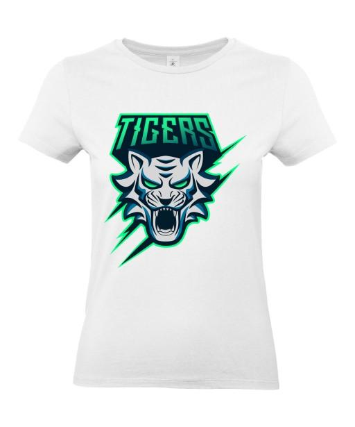 T-shirt Femme Geek Tigers [Animaux, Jeux Vidéos, Gamer, Tigre] T-shirt Manches Courtes, Col Rond