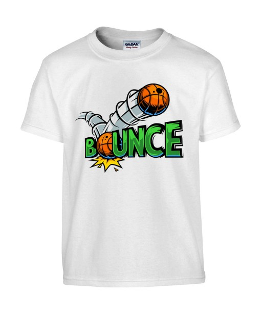 T-shirt Homme Bounce [Street Art, Urban, Swag, Graffiti, Basketball] T-shirt Manches Courtes, Col Rond