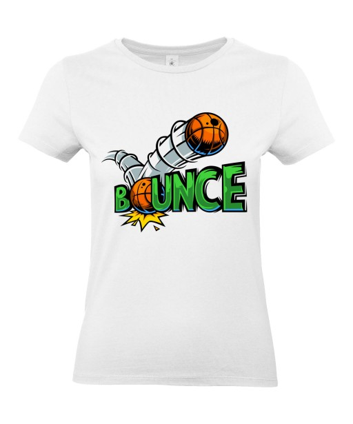 T-shirt Femme Bounce [Street Art, Urban, Swag, Graffiti, Basketball] T-shirt Manches Courtes, Col Rond