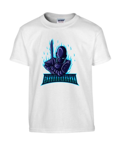 T-shirt Homme Geek Samouraï [Jeux Vidéos, Gamer, Katana] T-shirt Manches Courtes, Col Rond