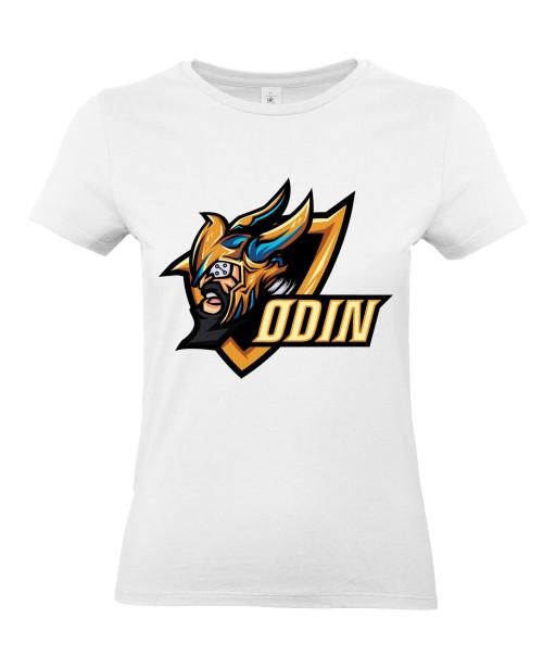 T-shirt Femme Geek Odin [Jeux Vidéos, Gamer, Comics, Marvel, Thor] T-shirt Manches Courtes, Col Rond