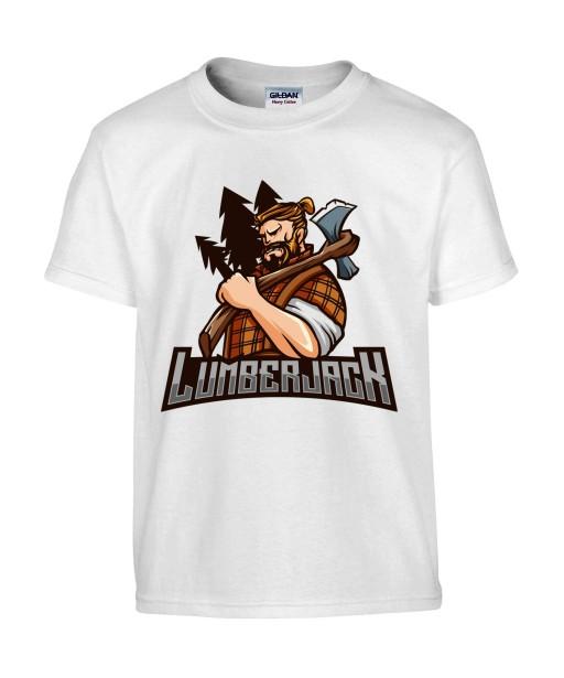T-shirt Homme Bûcheron [Nature, Design, LumberJack] T-shirt Manches Courtes, Col Rond