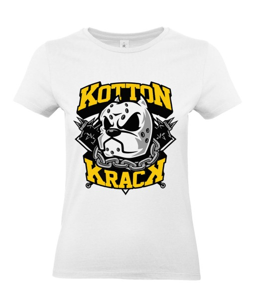 T-shirt Femme Kotton Krack [Street Art, Urban, Animaux, Swag, Chien, Pitbull] T-shirt Manches Courtes, Col Rond