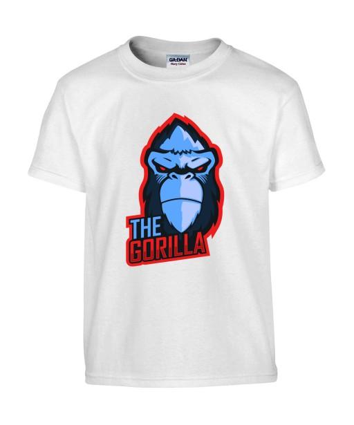 T-shirt Homme Geek Gorille [Jeux Vidéos, Gamer, Animaux] T-shirt Manches Courtes, Col Rond