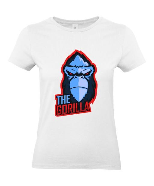 T-shirt Femme Geek Gorille [Jeux Vidéos, Gamer, Animaux] T-shirt Manches Courtes, Col Rond