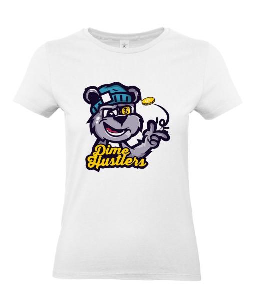 T-shirt Femme Dime Hustlers [Street Art, Urban, Swag] T-shirt Manches Courtes, Col Rond