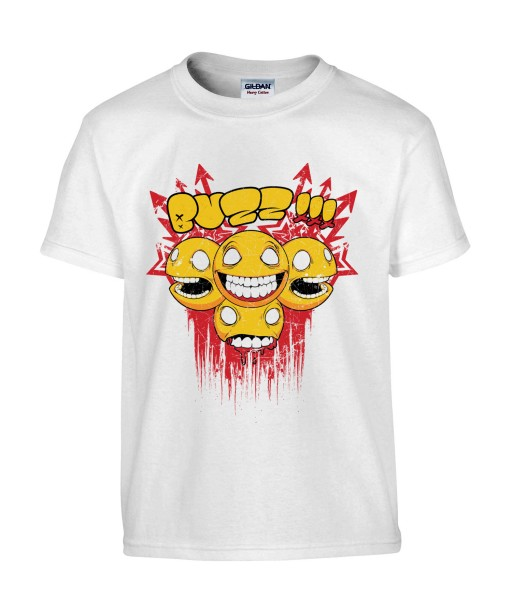 T-shirt Homme Smiley Buzz [Trash, Gore, Street Art, Urban, Swag, Graffiti] T-shirt Manches Courtes, Col Rond