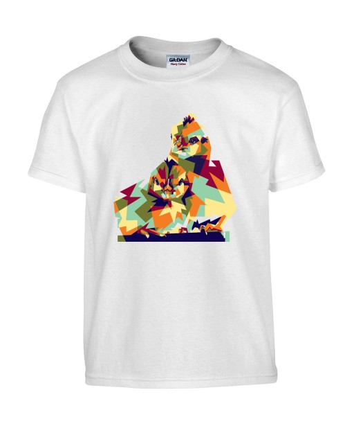 T-shirt Homme Pop Art Oiseaux [Graphique, Animaux, Géométrique, Abstract, Colorful] T-shirt Manches Courtes, Col Rond
