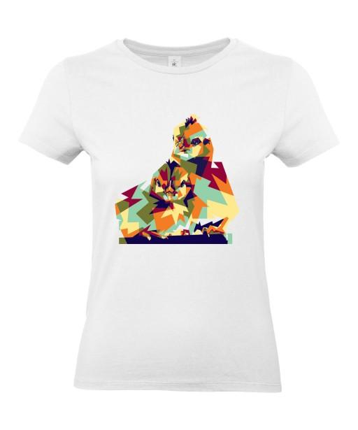 T-shirt Femme Pop Art Oiseaux [Graphique, Animaux, Géométrique, Abstract, Colorful] T-shirt Manches Courtes, Col Rond