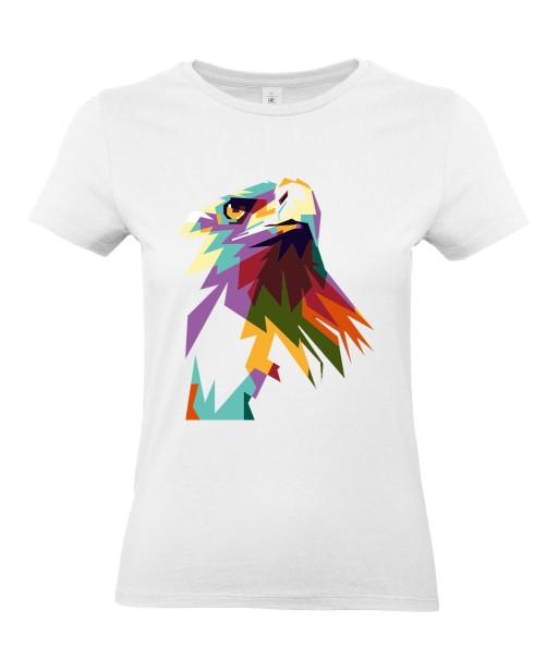 T-shirt Femme Pop Art Aigle [Graphique, Animaux, Géométrique, Oiseau, Abstract, Colorful] T-shirt Manches Courtes, Col Rond