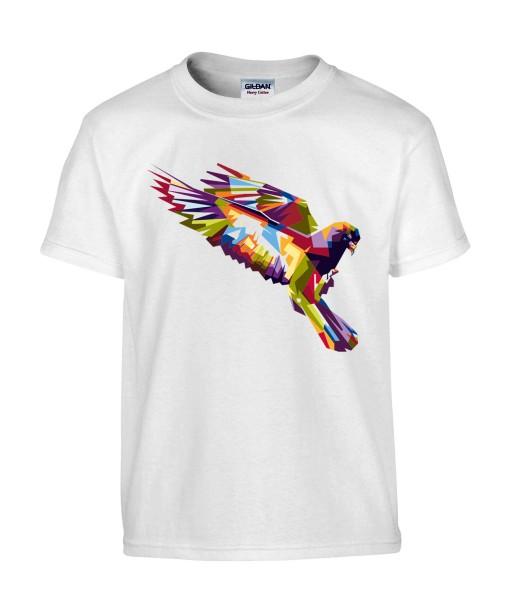 T-shirt Homme Pop Art Oiseau [Graphique, Animaux, Géométrique, Abstract, Colorful] T-shirt Manches Courtes, Col Rond