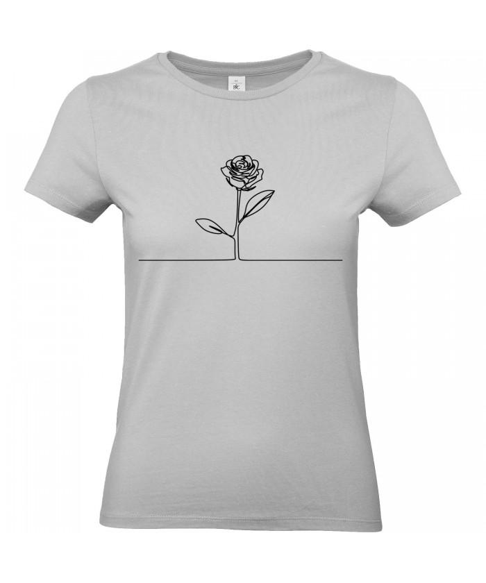 05d760418a0fd T-shirt Femme Ligne Rose