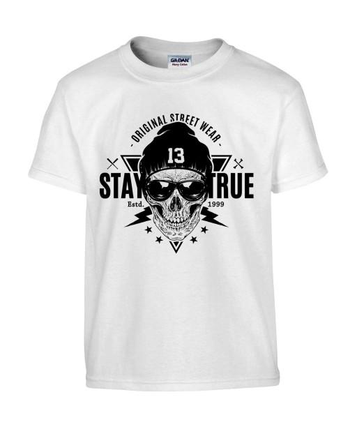 T-shirt Homme Tête de Mort Indien [Skull, Apache, Cheyenne, Western] T-shirt Manches Courtes, Col Rond