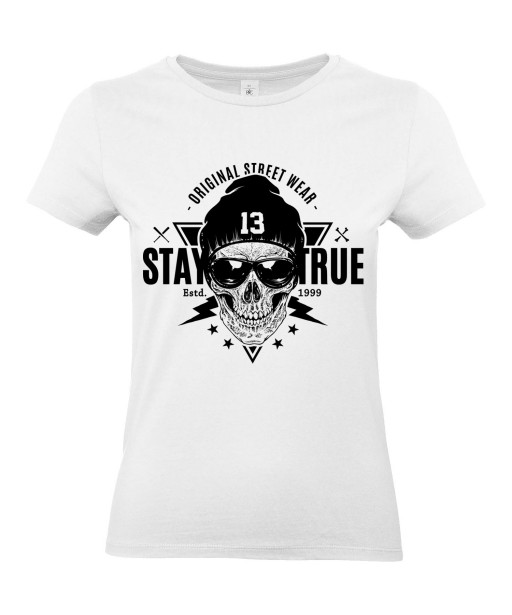 T-shirt Femme Tête de Mort Street Wear [Urban, Hip-Hop, Street Art, Skater] T-shirt Manches Courtes, Col Rond