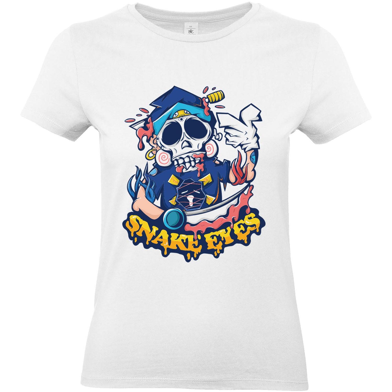 T Shirt Femme Tête De Mort Snake Eyes
