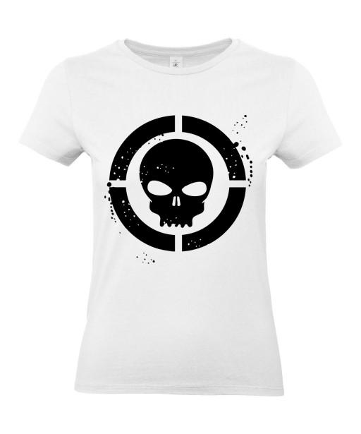 T-shirt Femme Tête de Mort Cible [Skull, Marvel, Super Héros] T-shirt Manches Courtes, Col Rond
