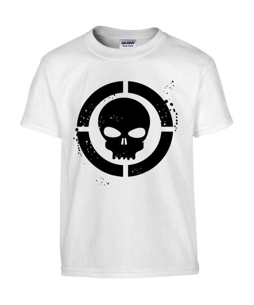 T-shirt Homme Tête de Mort Cible [Skull, Marvel, Super Héros] T-shirt Manches Courtes, Col Rond
