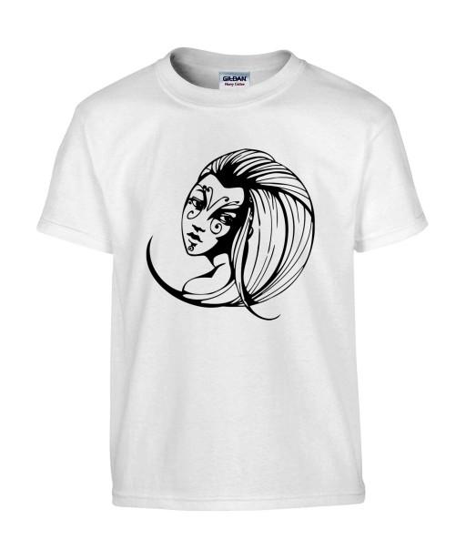 T-shirt Homme Tattoo Visage [Tatouage, Femme, Papillon] T-shirt Manches Courtes, Col Rond